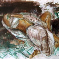 """ Model 2 "" / Dry Brush and Watercolor / 2007"