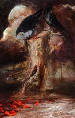 """"""" Two Crows """" Acyrilic on canvas"""
